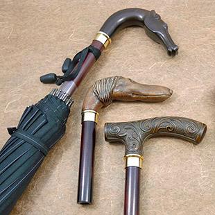 高級ステッキ素材で「傘手元」を製作致しますのイメージ